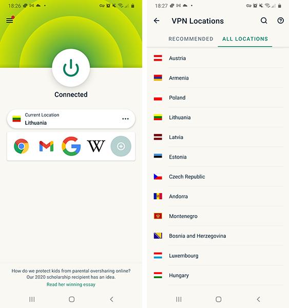 ExpressVPN Android programa