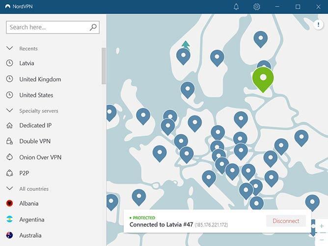 NordVPN windows client